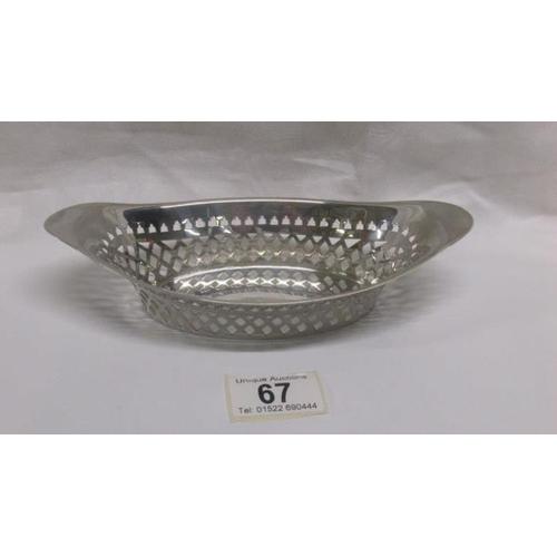 67 - A silver sweetmeat dish...