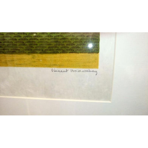 675 - A pencil signed lithograph of racecourse winners enclosure by Vincent Haddelsey (1034-2010)...