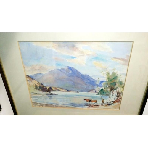 690 - 3 water colour Scottish rural scenes signed J K Maxton (John Kidd Maxton)...