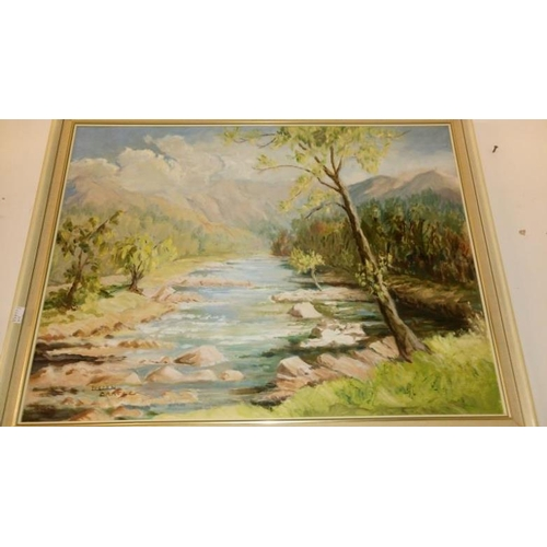 705 - 2 framed oil on board paintings, one signed Lilian Bartle...
