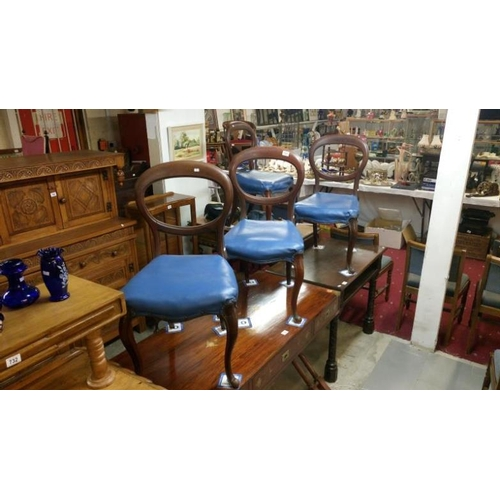 731 - A set of 4 mahogany balloon back dining chairs...