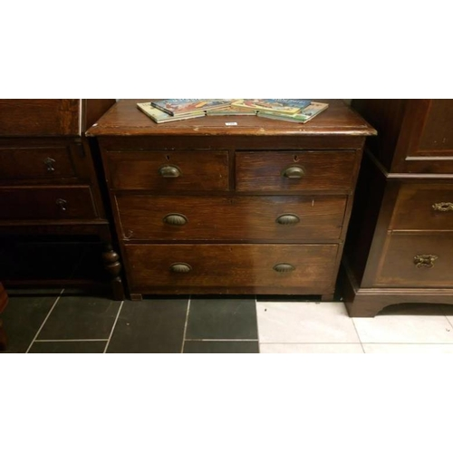 759 - A stained 3 drawer chest...