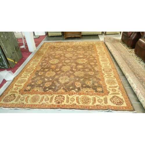 782 - A super handmade rug of mellow colours & very clean, Approximate size 7' x 10'...