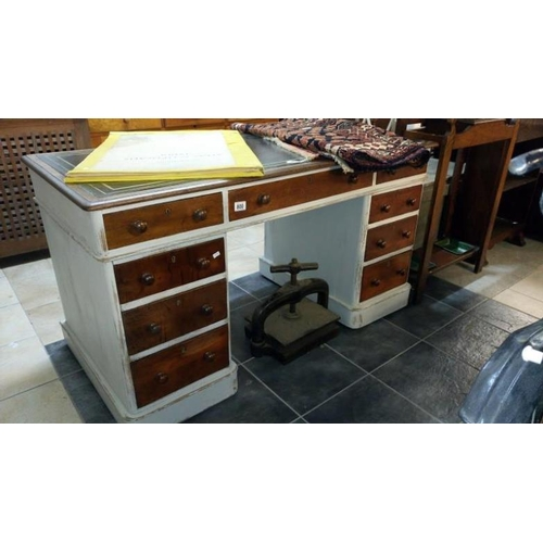 800 - A double pedestal desk...