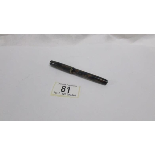 81 - A Burnham No.44 fountain pen...