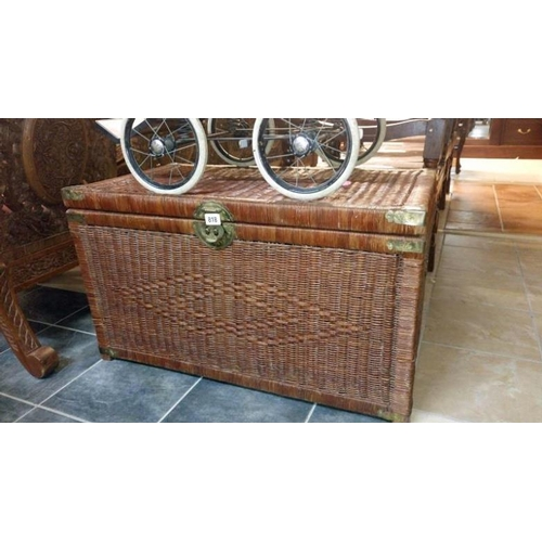 818 - A wicker trunk...