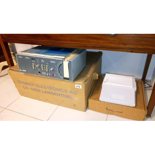 819 - A boxed Greiner Quartz printer & a boxed Kray Duratype 244SE label printer...