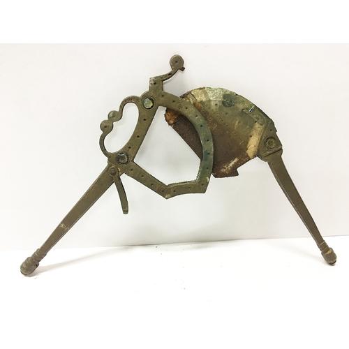 112 - A vintage brass betel cutter...