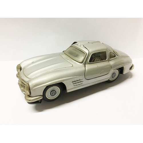 379 - A Bandan tinplate Mercedes 300SL gullwing...