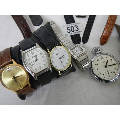 503 - 16 ladies and gents wrist watches.