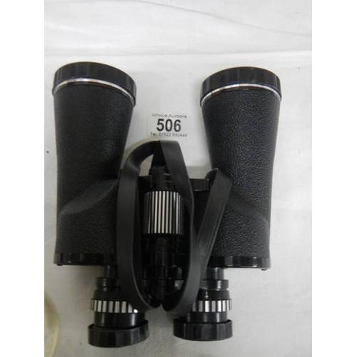 506 - A good clean pair of Chinon 7 x 50 Angle Field binoculars....