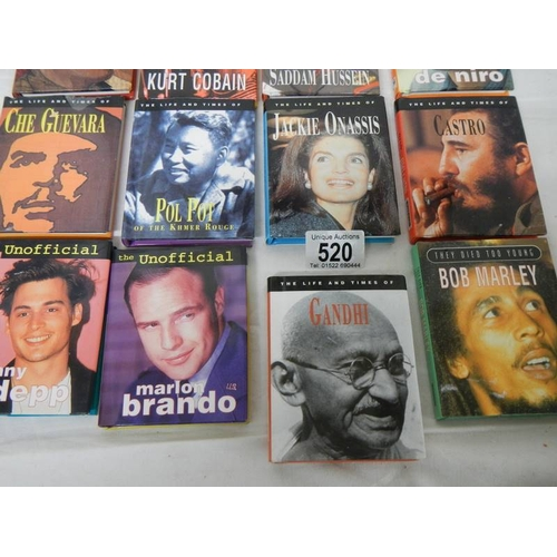 520 - 16 small books being biographies of famous people....