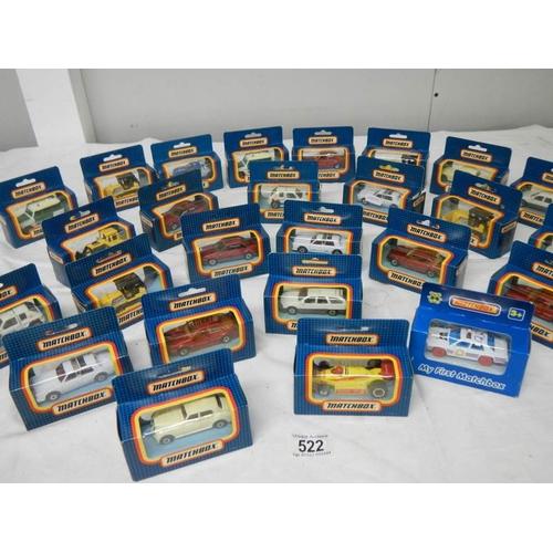 522 - 26 mint and boxed Matchbox model vehicles....