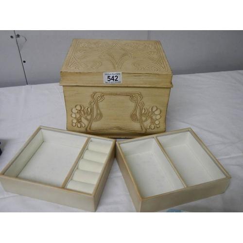 542 - A good quality Macintosh style jewellery box, 24 cm 2ide, 20 cm deep, 20 cm high....