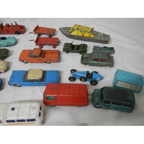 548 - A quantity of Playworn Dinky, Matchbox, Lone Star, Budgie die cast toys....