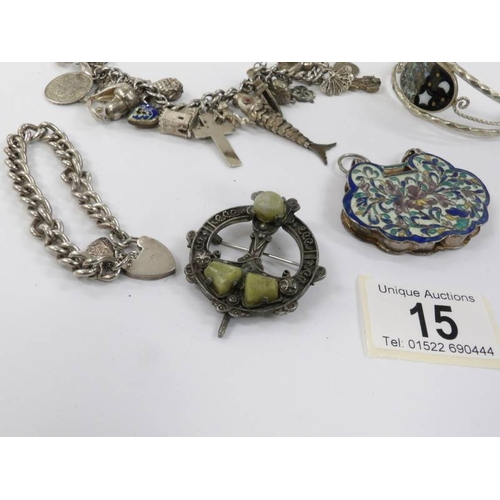 15 - A mixed lot of jewellery including silver....