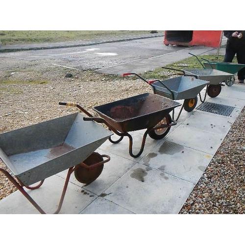 333 - 5 wheel barrows in various conditions.