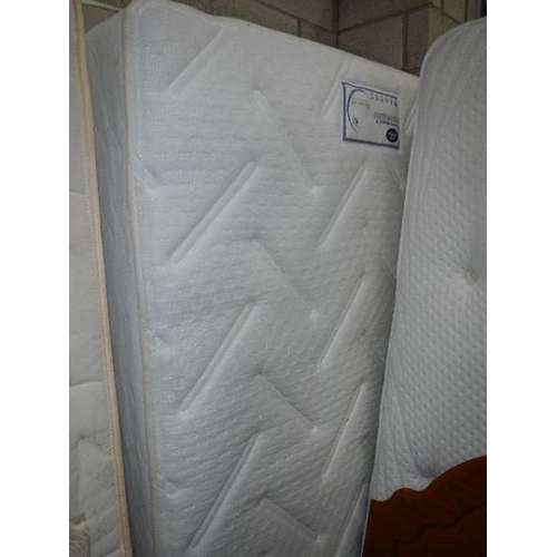 359 - A double divan base in clean condition with Silentnight 'Neptune' mattress.