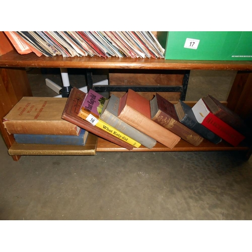 16 - A collection of books including Plays of Bernard Shaw, Folk stories and fables etc.