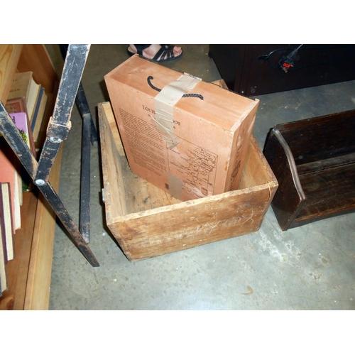 18 - Vintage Martell Cognac wooden box, jewellery display cabinet, book rest etc.