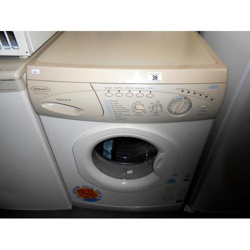 36 - A Hotpoint WMA 33 Aquarius washing machine