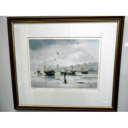 4 - 2 John Emerson ltd ed prints signed by artist, no 76/250 and 90/250 Harbour & beach scene, 55cm x 45...