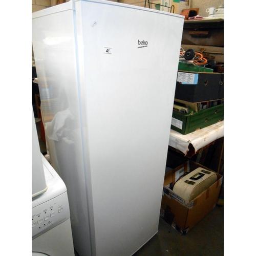 41 - A Beko upright 5 drawer freezer