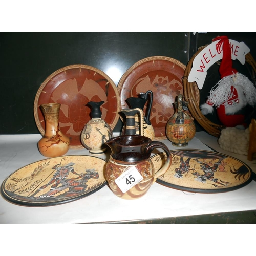45 - Hand made in Cyprus replica museum plates etc.