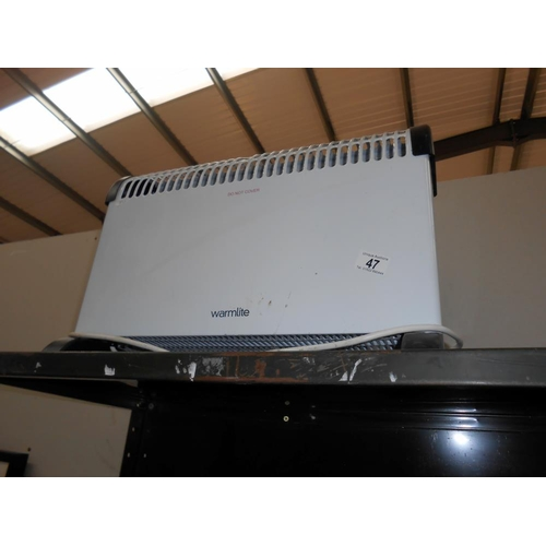 47 - A Warmlite convector heater and 1 other