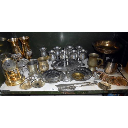 50 - A quantity of silver plate and other items