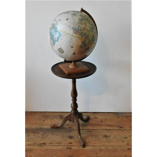 49 - A WINE TABLE AND GLOBE