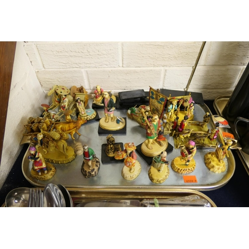 1 - Assorted Chinese figures (1 tray)...