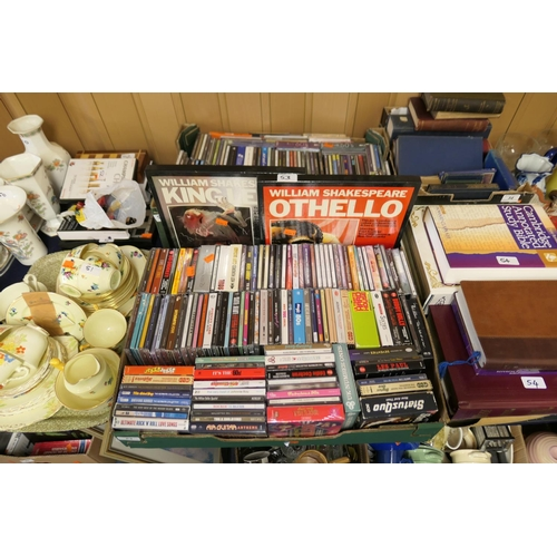 53 - Large number of music CDs, Shakespeare book and audio cassettes boxed sets...
