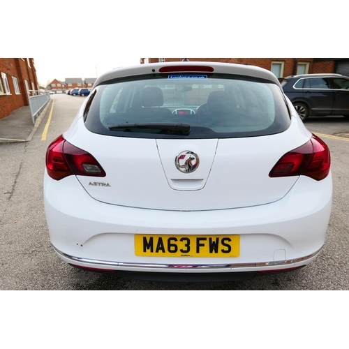 505 - Vauxhall Astra, five door, 1.4 SRI, petrol motor car, reg. MA63 FWS, 18,089 miles, MOT until 26th Se...