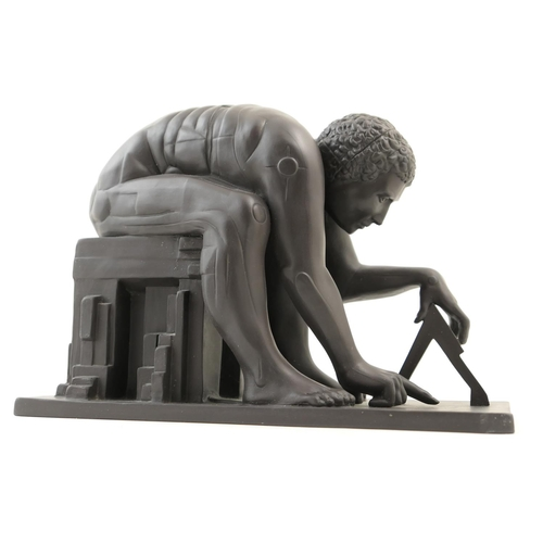 51 - Rare Wedgwood limited edition black basalt sculpture 'Newton - Man and Science, Master of the Univer...
