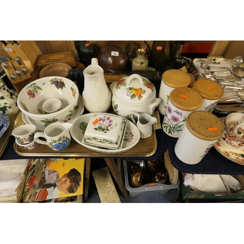 58 - Small selection of Portmeirion kitchen wares including storage jars...