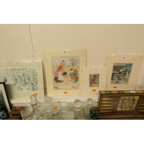 38 - Joyce Marriott 'Now you know I have eyes at the back of my head' signed engraving and three further ...
