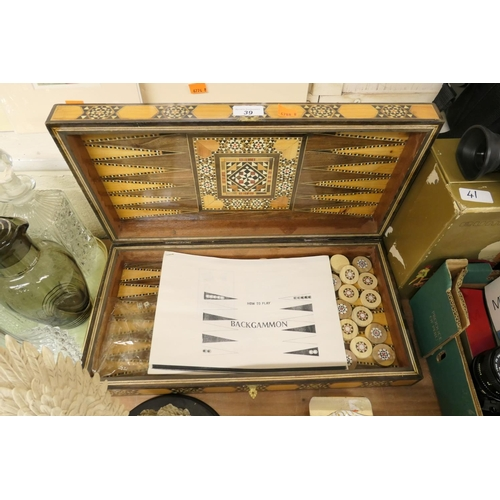 39 - Backgammon set...