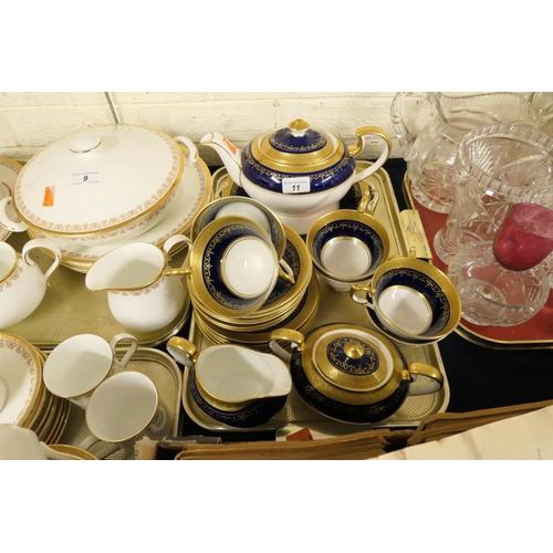 11 - Aynsley Georgian patterned gilded china tea service...