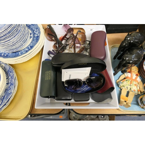 38 - Various spectacles including Versace and other designer makes...