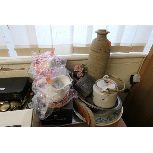 46 - Royal Doulton Juno coffee wares, Japanese teapot and decorative ceramics...