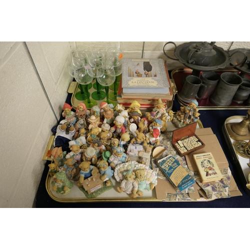 1 - Children's annuals, Royal ephemera, German roemer glasses, ornamental Cherished Teddies, further dec...