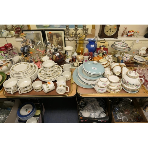 27 - Royal Doulton 'fine hotel' china dinner wares; also further Royal Albert and Indian Tree tea wares (...