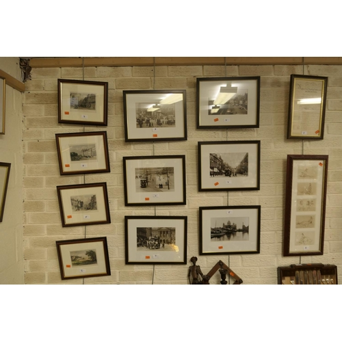 5 - Collection  of 'old Liverpool' photographs, polychrome Chester engravings, after Sir Russell Flint f...