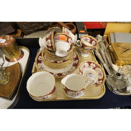 7 - Royal Albert Lady Hamilton tea service and matching dish (1 tray)...