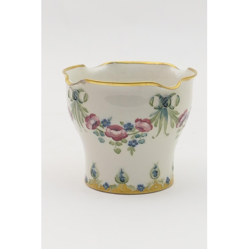 27 - Macintyre Moorcroft fern pot, circa 1904-13, decorated with the '18th Century' pattern, printed and ...
