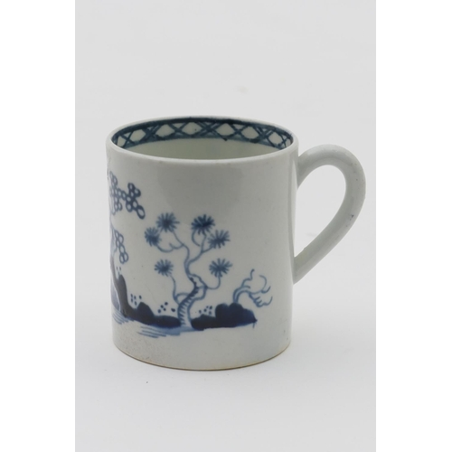 34 - James Pennington, Liverpool, blue and white coffee can, in the cannonball pattern, circa 1765, heigh...