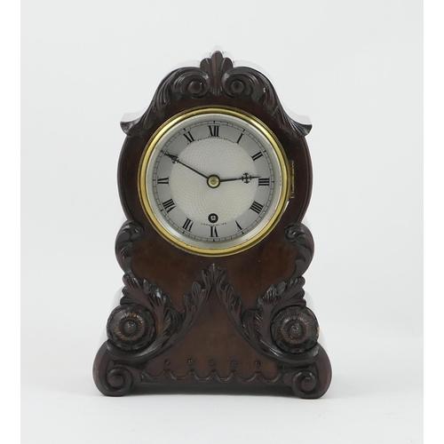418 - Fine George IV mahogany mantel timepiece by Bridgman & Brindle, London, circa 1825, the quality Cuba...