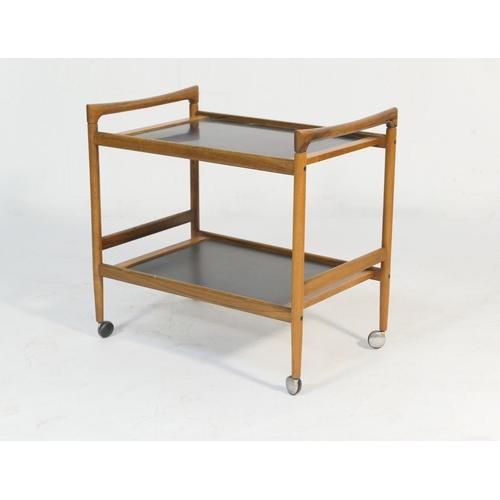 534 - Dyrlund (Danish) teak two tier tea trolley, circa mid 1970s, 74cm x 49cm, height 71cm...