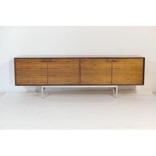 535 - Danish rosewood sideboard, Hertug for Fredrik Kayser, early 1970s, well figured veneers throughout, ...